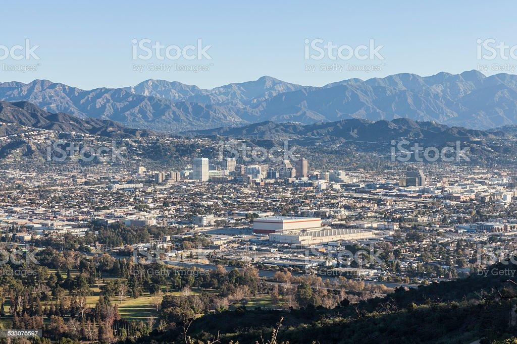 Glendale California Mountain View stock photo
