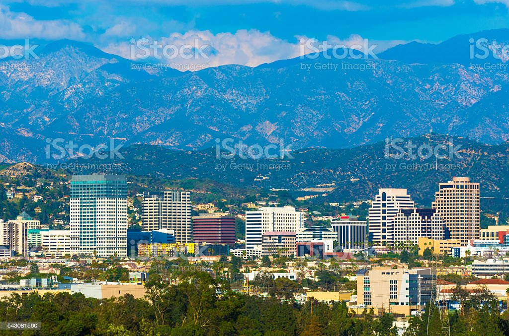 Glendale Skyline with Mountains stock photo