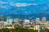 Glendale Skyline with Mountains