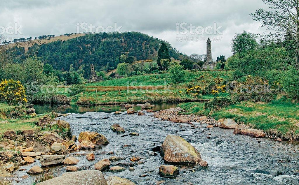 Glendalough Cemetery stock photo