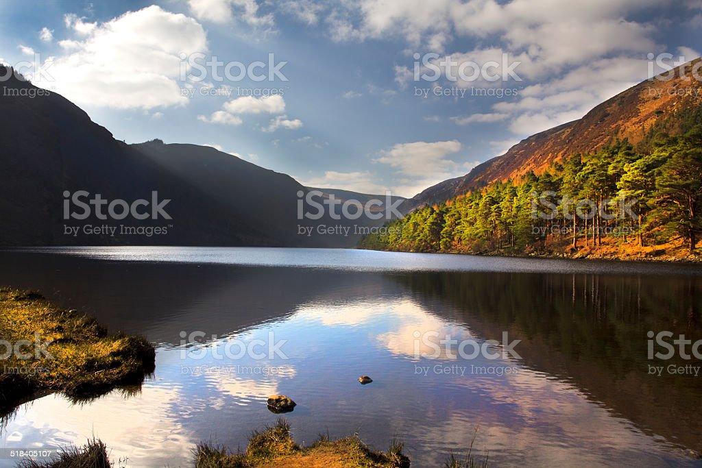 Glendalough lake county wicklow Ireland stock photo