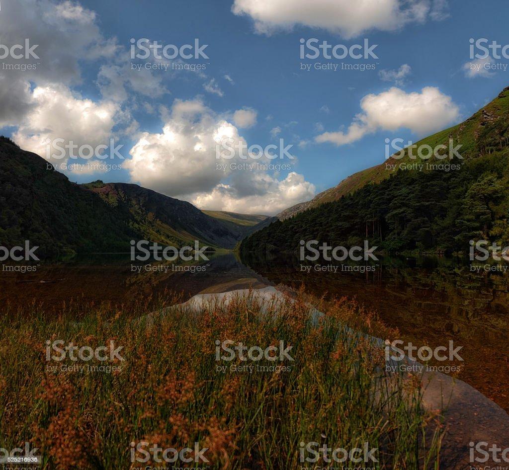 ...Glendalough Upper lake... stock photo