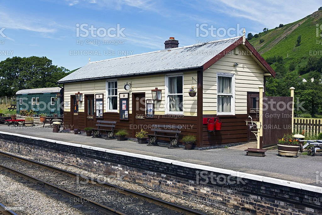 Glendyfrdwy Station North Wales stock photo
