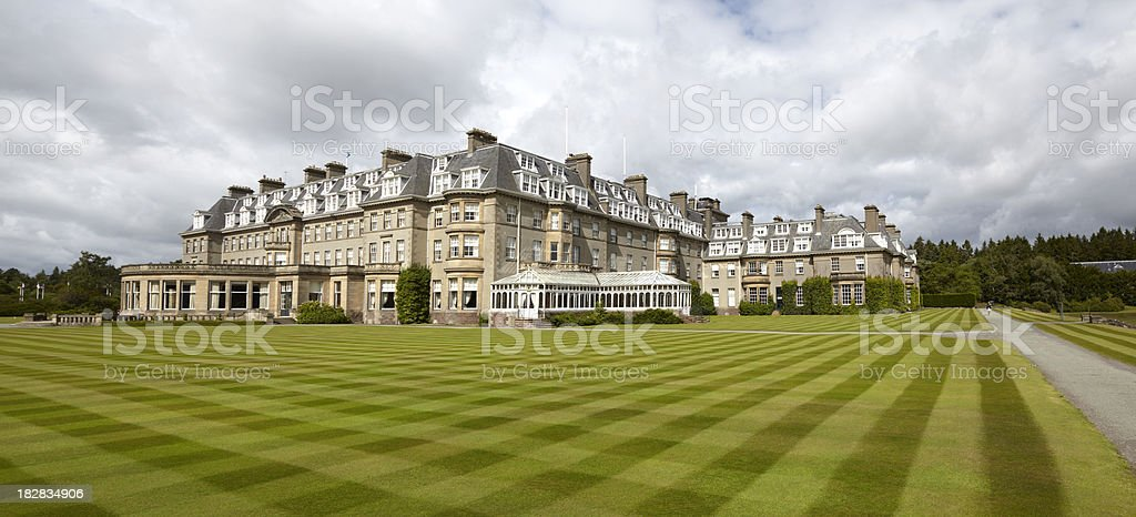'Gleneagles Hotel - Tourism Resort, Scotland' stock photo