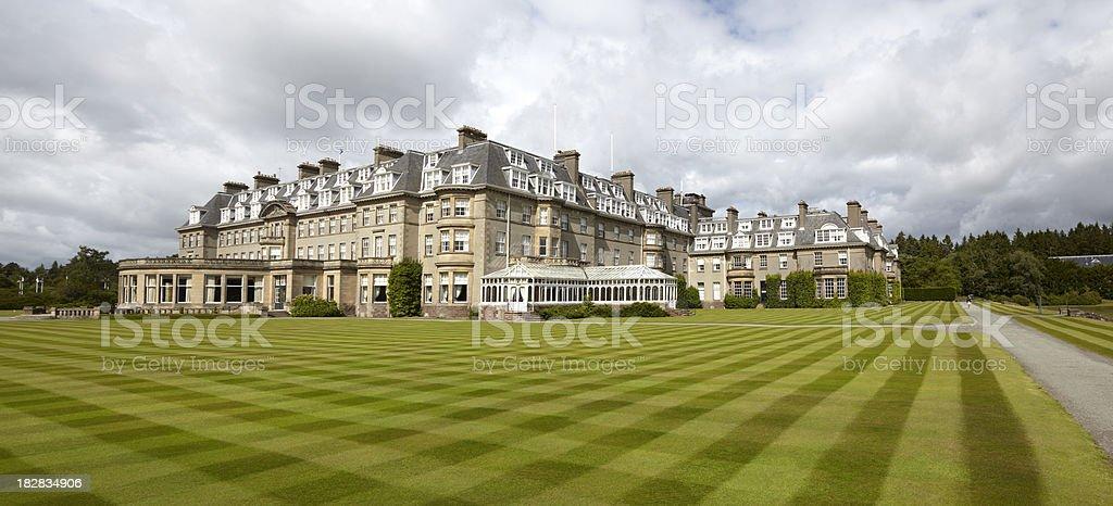 Gleneagles Hotel - Tourism Resort, Scotland stock photo