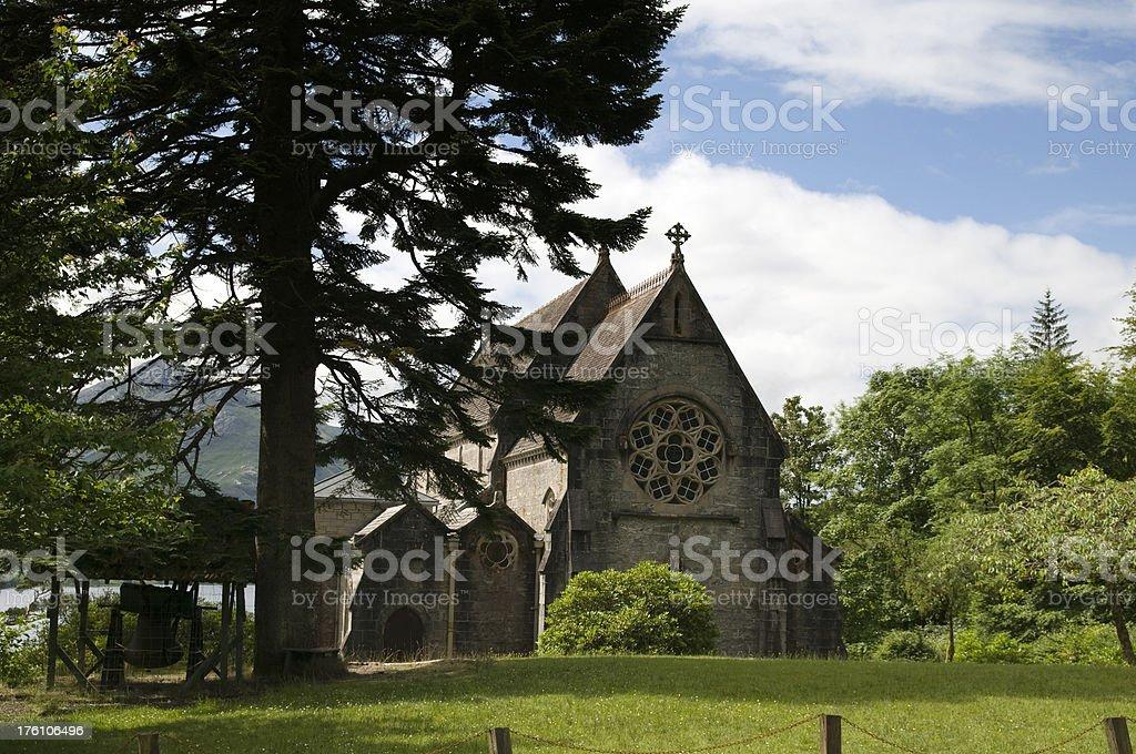 Glenfinnan Church stock photo