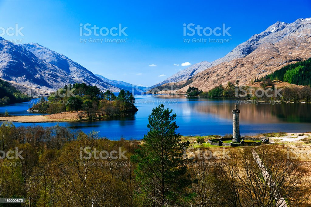 Glenfinnan Monument landscape, Scotland stock photo