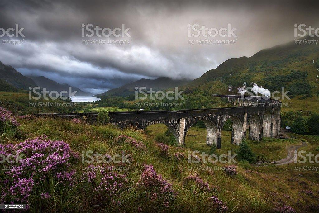Glenfinnan Viaduct, Scotland stock photo