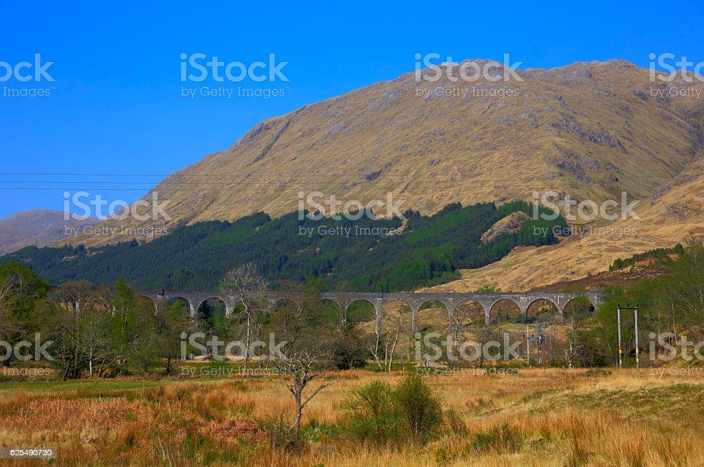 Glenfinnan Viaduct West Highland Line Glenfinnan Scotland uk stock photo