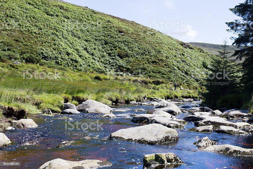 Glenmacnass River stock photo