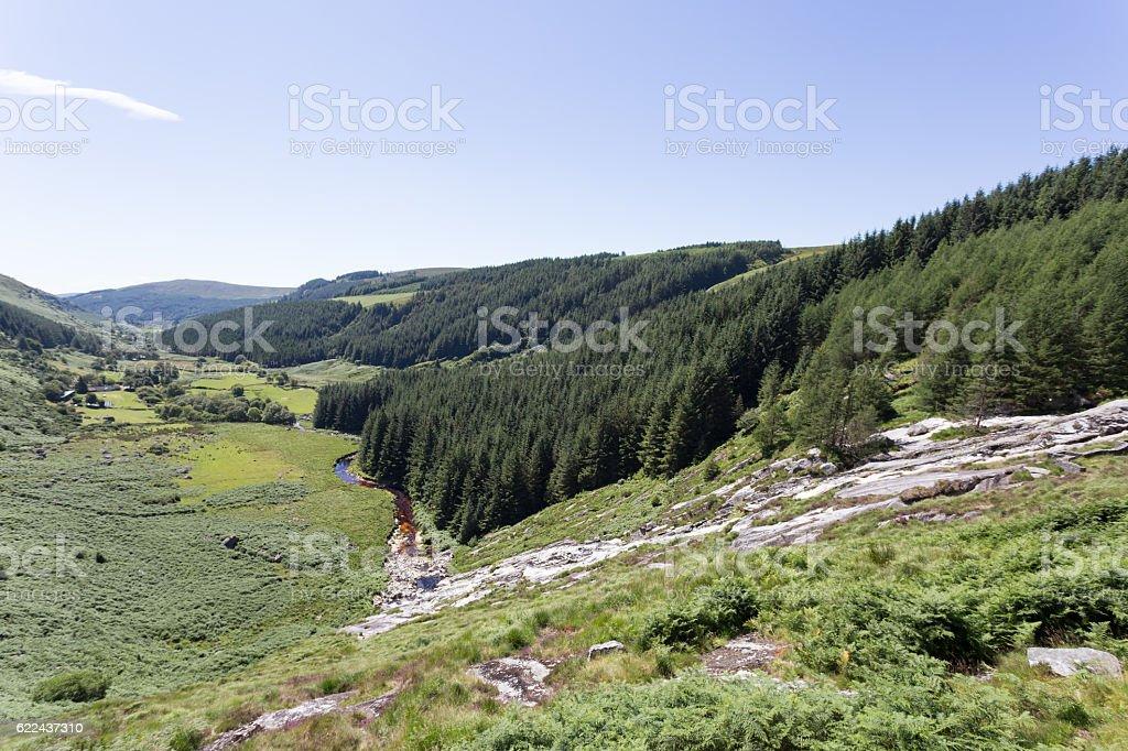 Glenmacnass Warerfall royalty-free stock photo