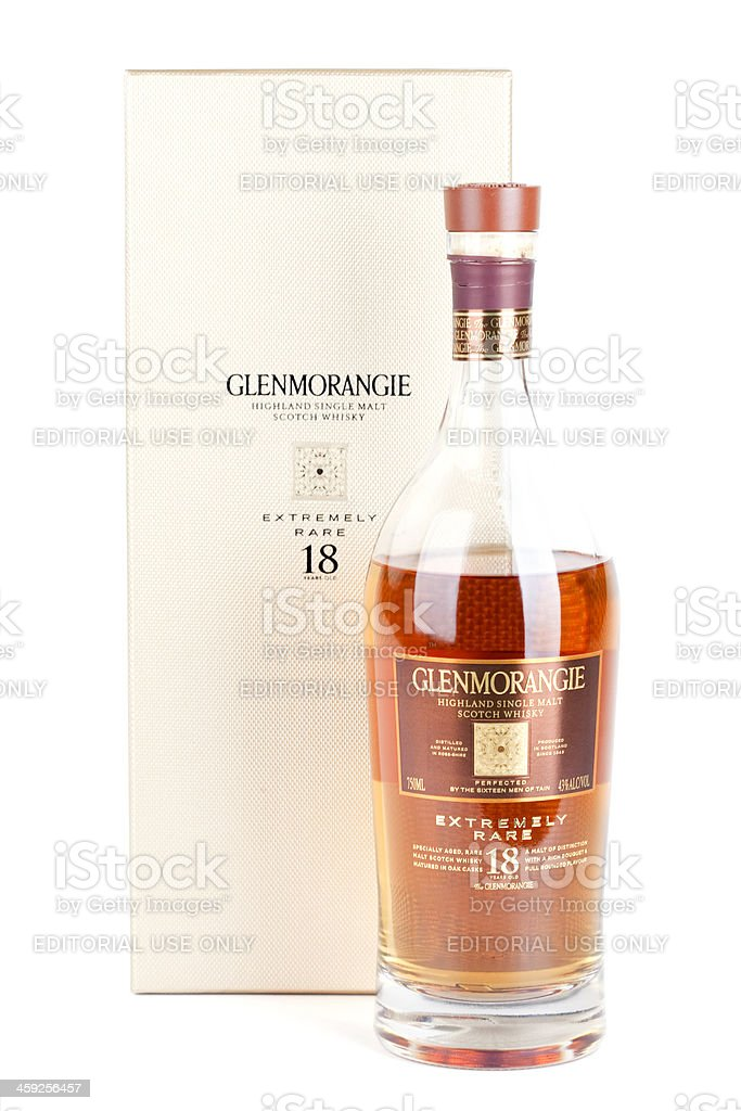 Glenmorangie Very Rare 18 Year Old Scotch Whiskey stock photo