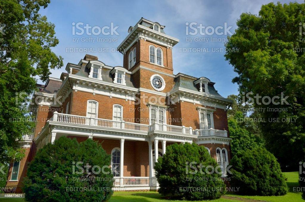 Glenmore Mansion in Jefferson City, TN USA royalty-free stock photo