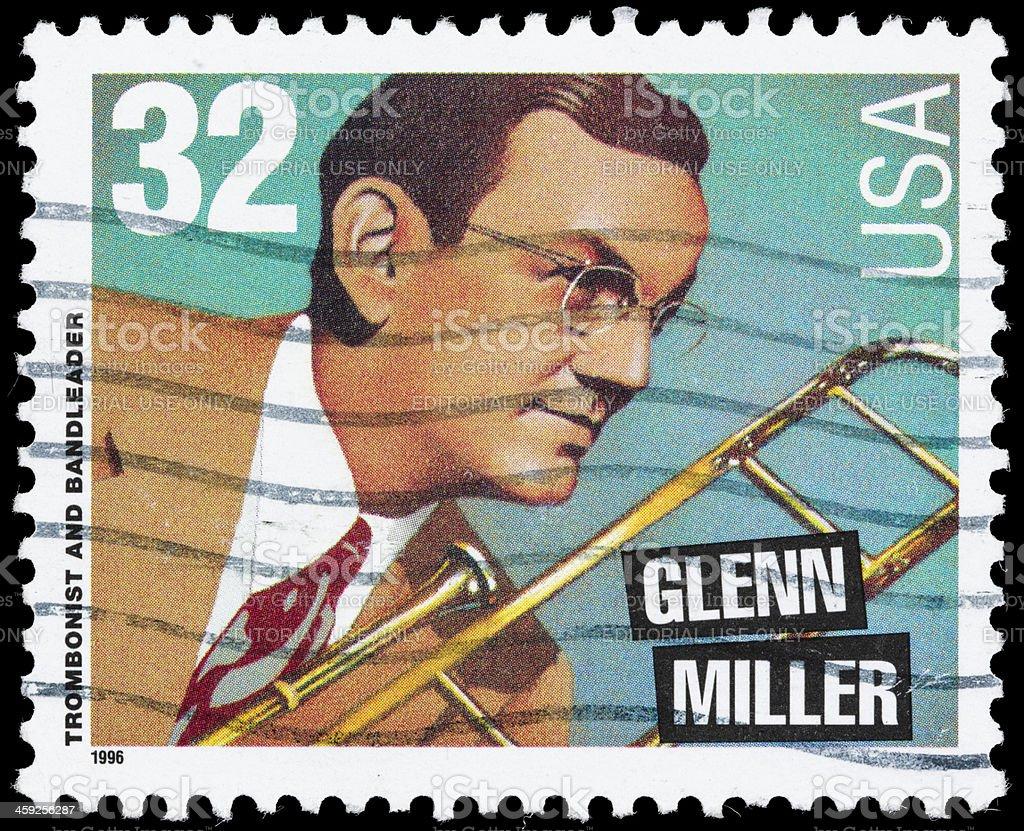 USA Glenn Miller postage stamp stock photo