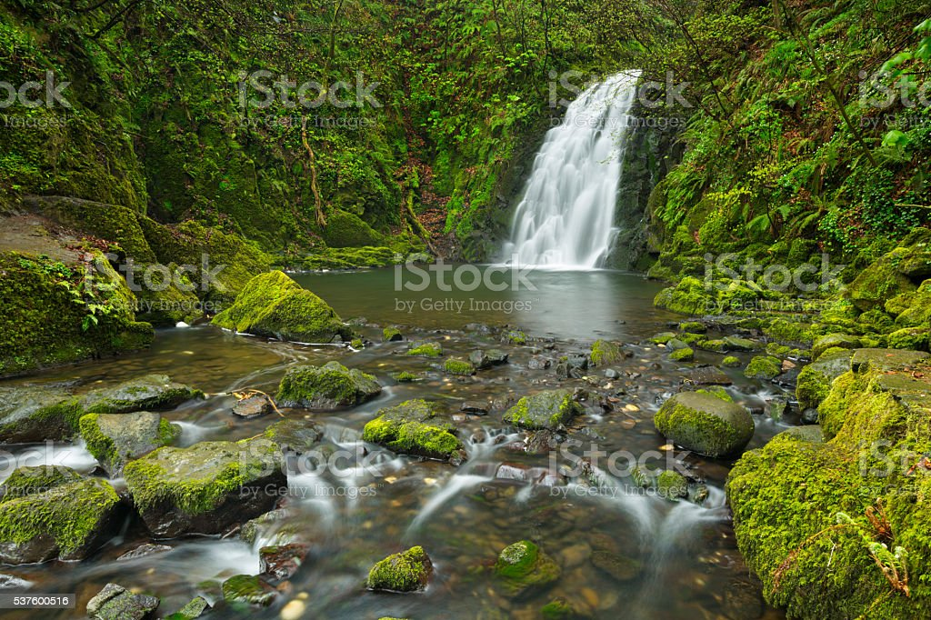Gleno Falls in Northern Ireland stock photo