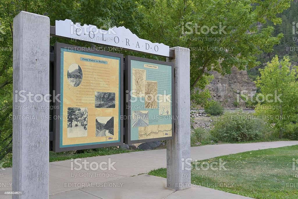 Glenwood Canyon stock photo