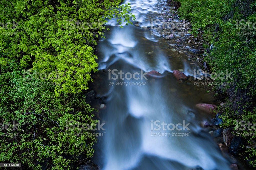 Glenwood Canyon Spring Creek stock photo