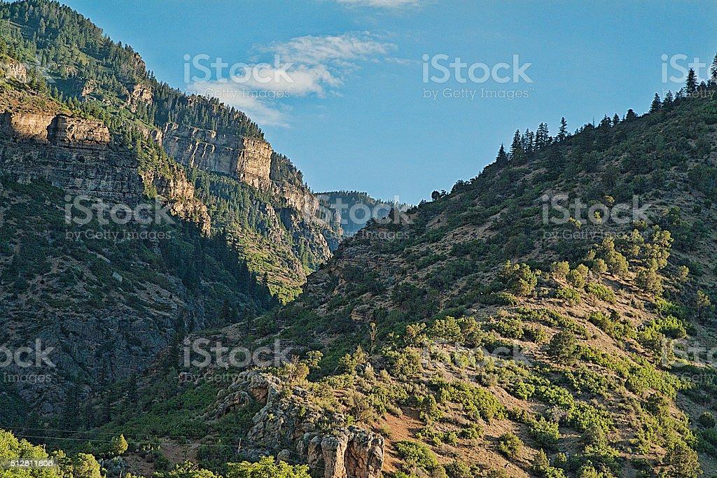Glenwood Canyon Sunrise stock photo