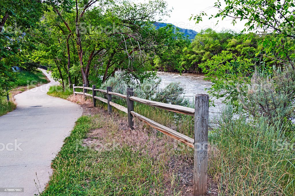 Glenwood Springs Colorado River Walk stock photo