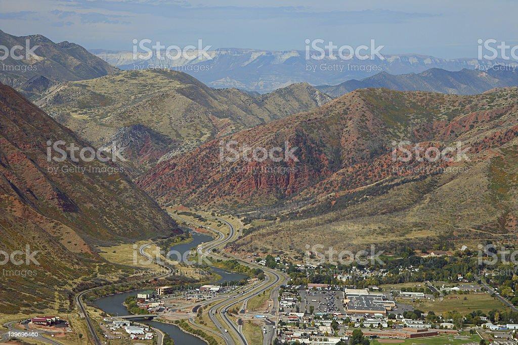 Glenwood Springs, looking west stock photo