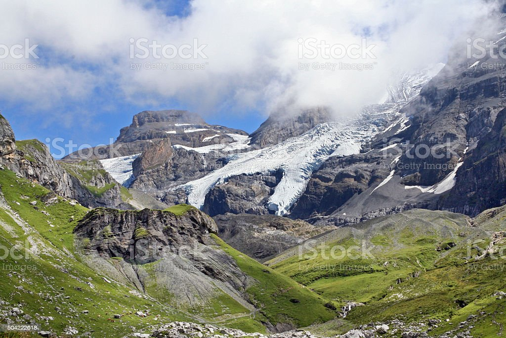 Gletscher of Blumlisalp in Switzerland stock photo