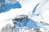 Gletscherhütte auf dem Gletscher Hintertux im Zillertal