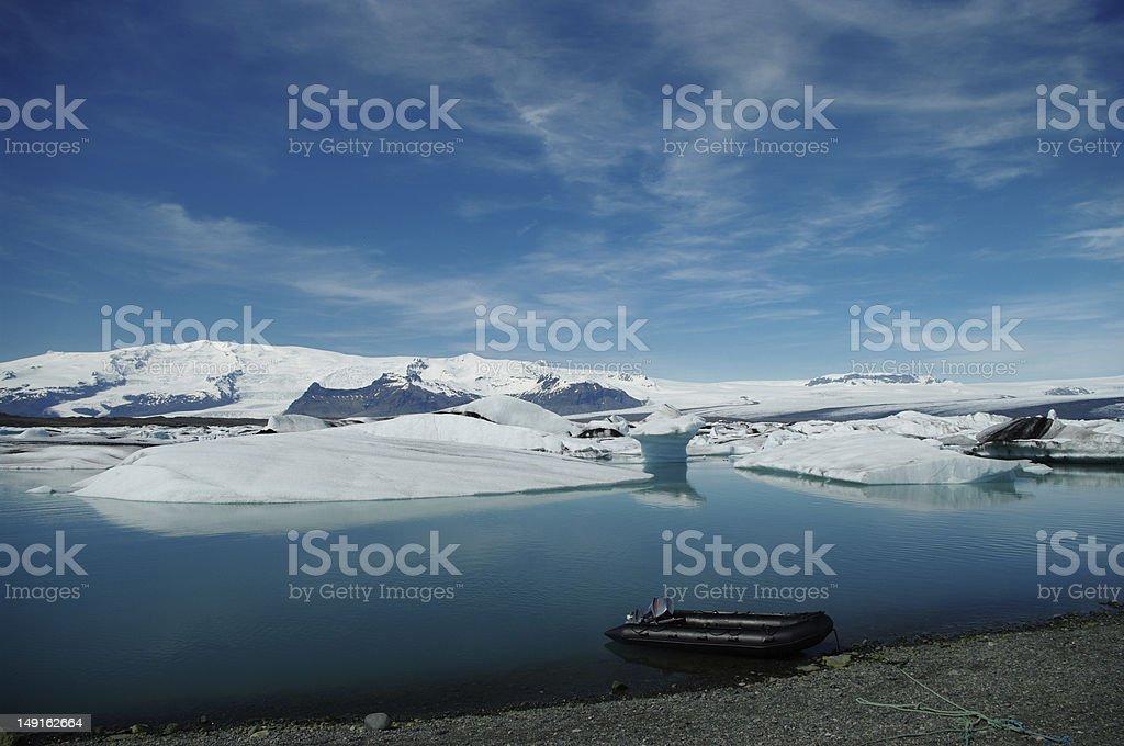 Gletscherlagune Jökulsarlon in Island royalty-free stock photo