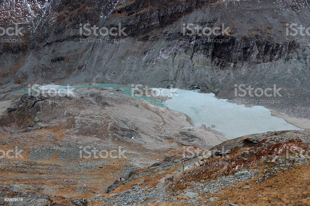 gletschermilch stock photo