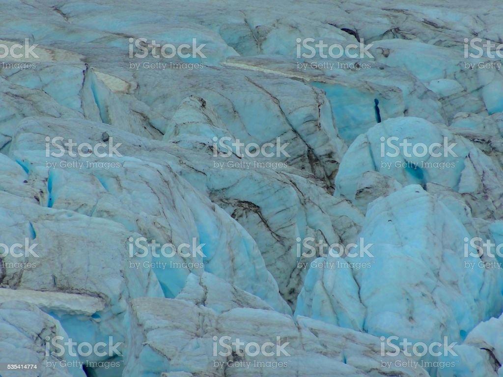 Gletscherspalte stock photo