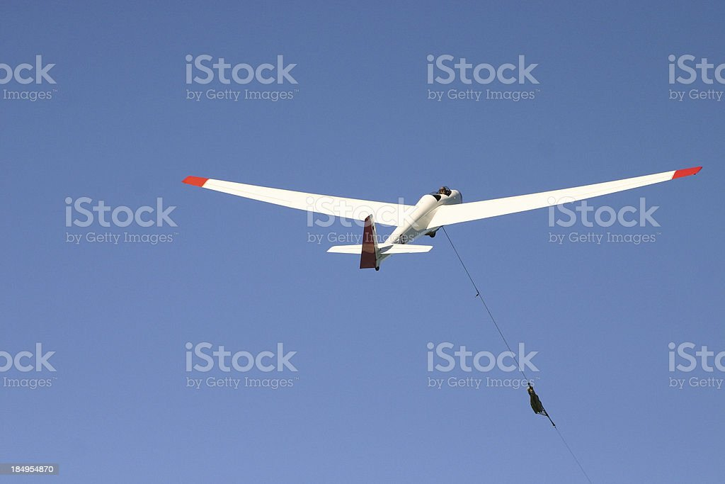 Glider being catapulted royalty-free stock photo