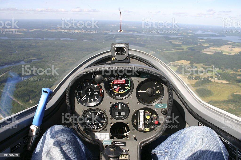 Glider cockpit royalty-free stock photo