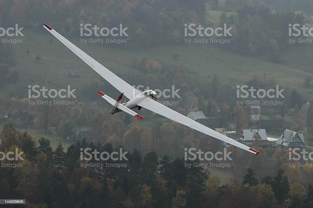 Glider in flight. royalty-free stock photo