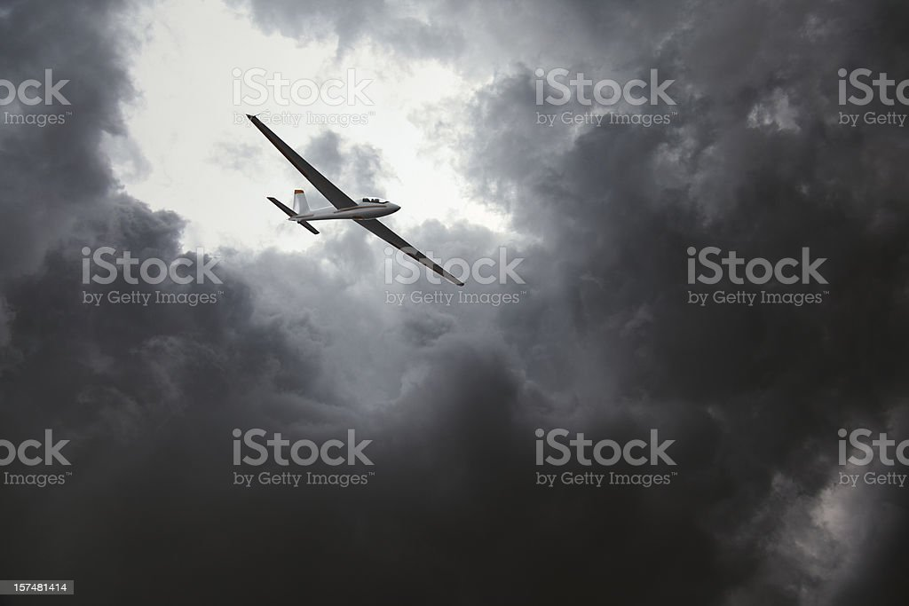 Glider in storm stock photo