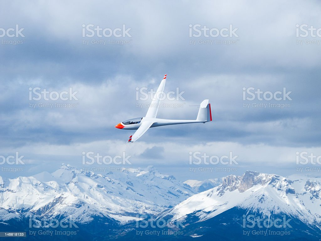 Glider in the air stock photo