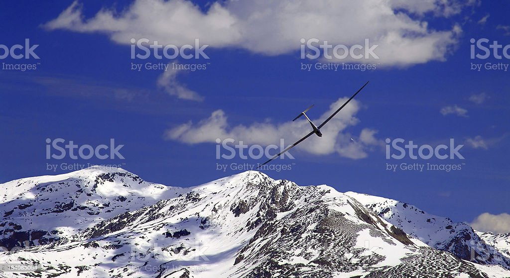 Glider in the alps royalty-free stock photo