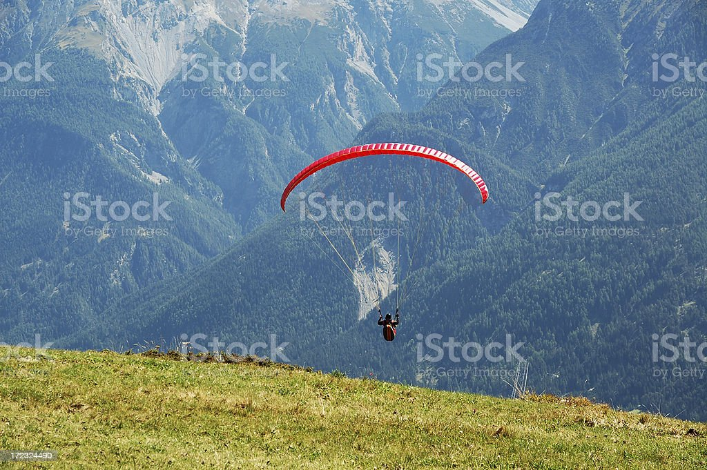 Glider in the Mountains royalty-free stock photo
