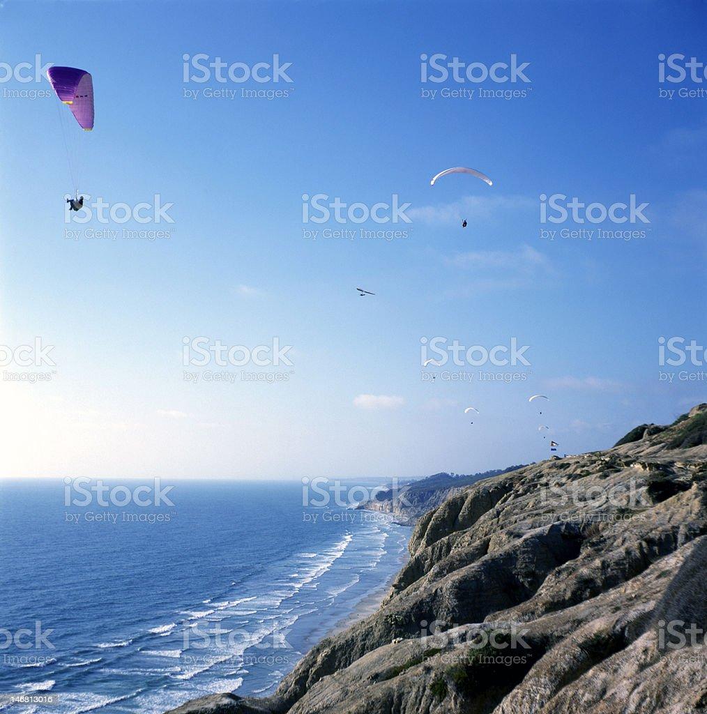 Glider in Torrey Pines stock photo