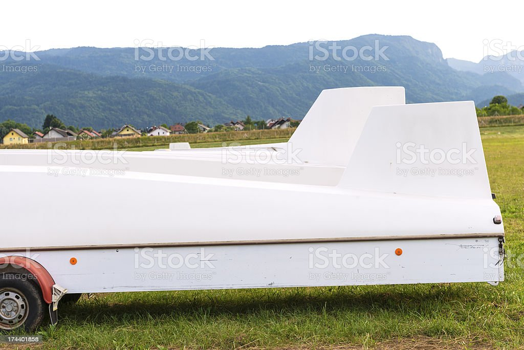 Glider on the grass royalty-free stock photo