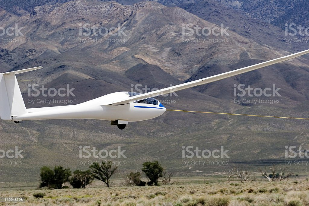 Glider on Tow royalty-free stock photo