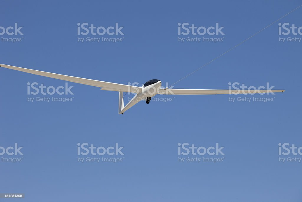 Glider on Tow stock photo
