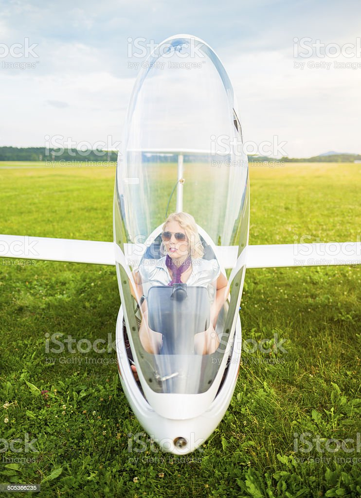 Glider pilot royalty-free stock photo