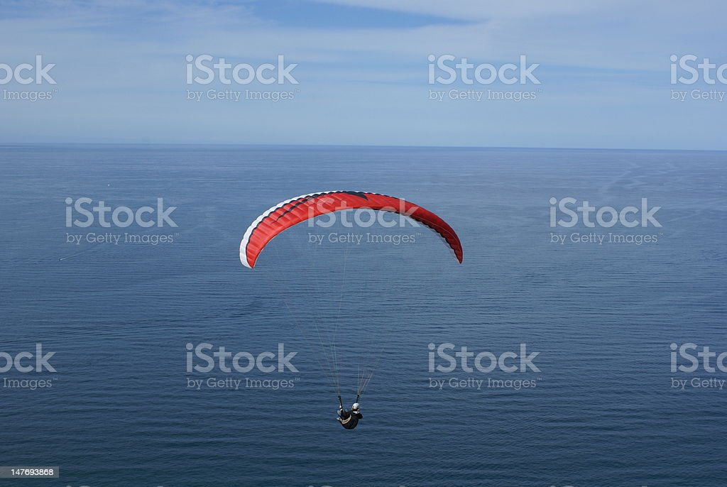 Gliding over the sea royalty-free stock photo