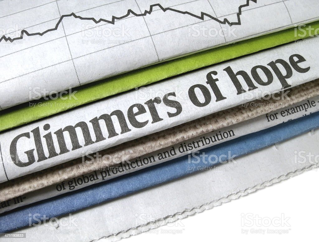 Glimmers of Hope Headline royalty-free stock photo