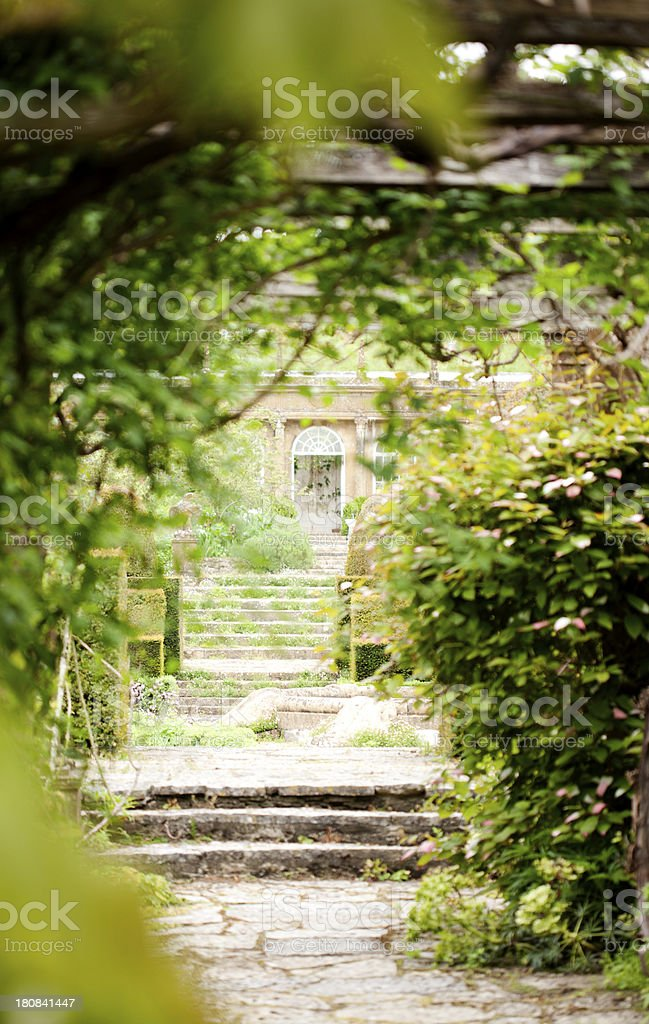 Glimpse of an English stately home stock photo