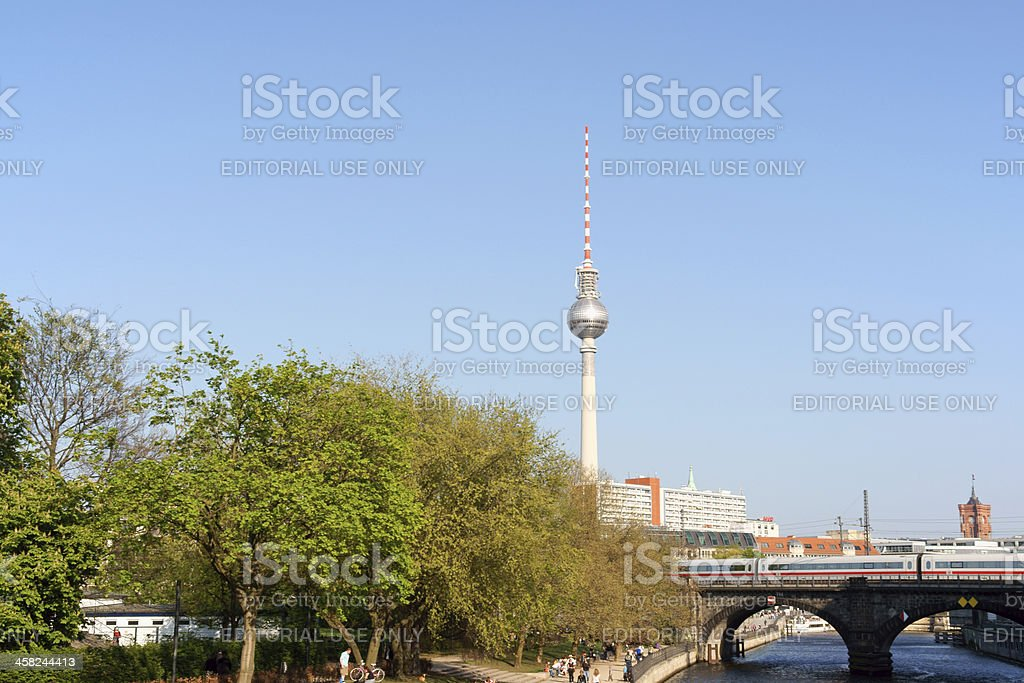 Glimpse of Berlin royalty-free stock photo