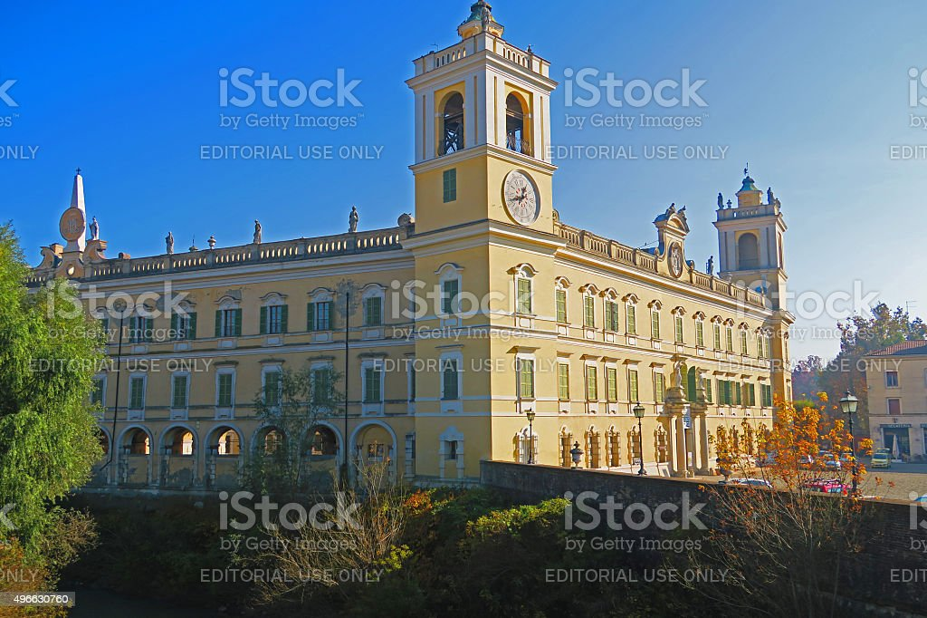 Glimpse of ducal palace of Colorno,Italy stock photo