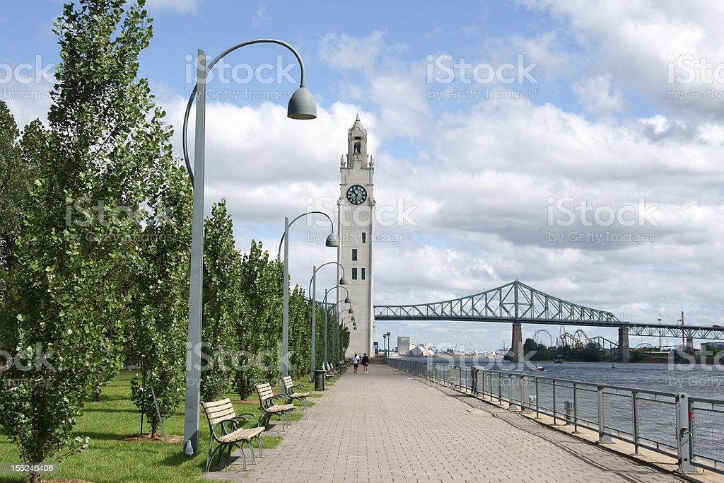 Glimpse of Montreal stock photo