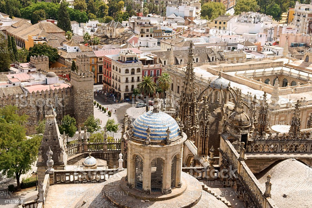 Glimpse of Seville, Spain royalty-free stock photo