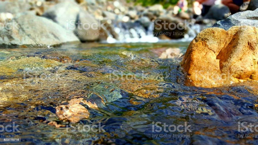 Glistening River stock photo