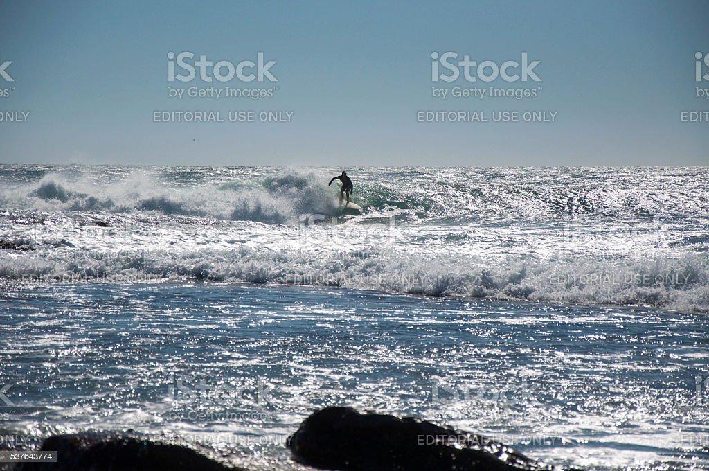 Glistening Surf stock photo